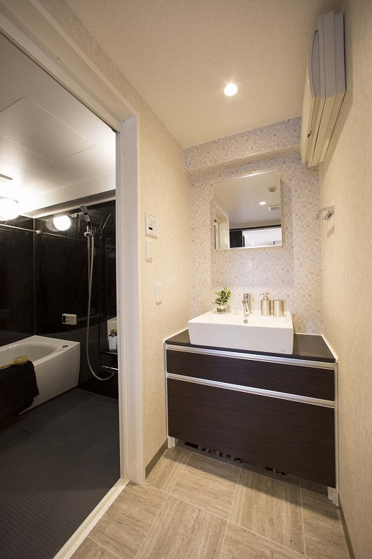 清潔感のある洗面化粧室