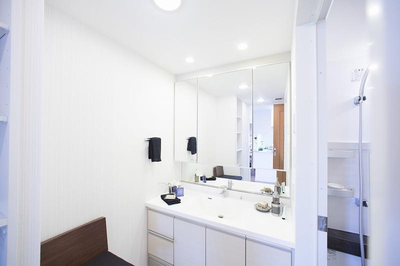 開放感のある洗面室