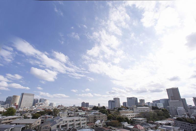 島津山の高台より望む眺望。