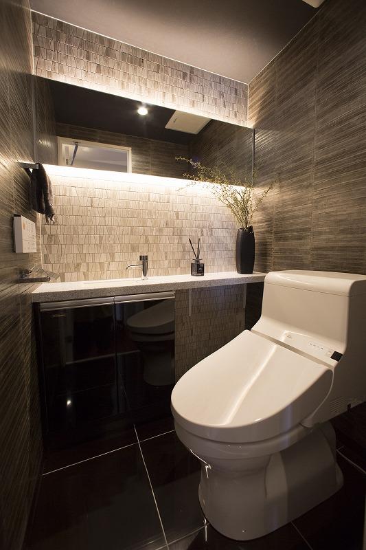 ウォシュレット付トイレ、手洗い機付