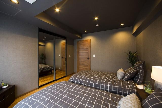 1日の疲れを癒す寝室