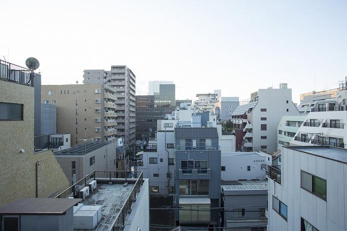 開放感のある眺望(上野駅方面を望む)