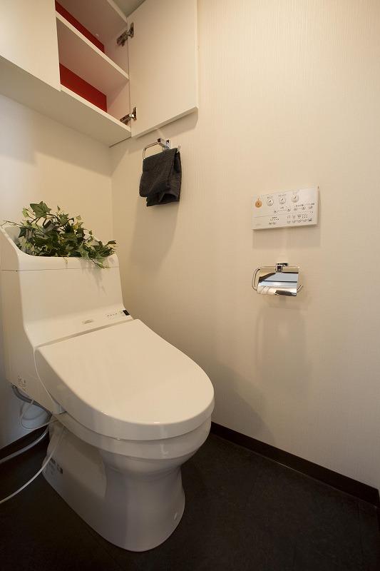 省エネを実施する超節水+ecoボタンを装備したトイレ(201号室)