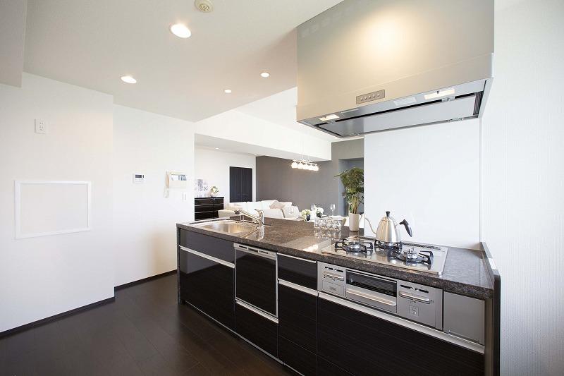 新規交換のシステムキッチン、お料理を効率的、楽しく