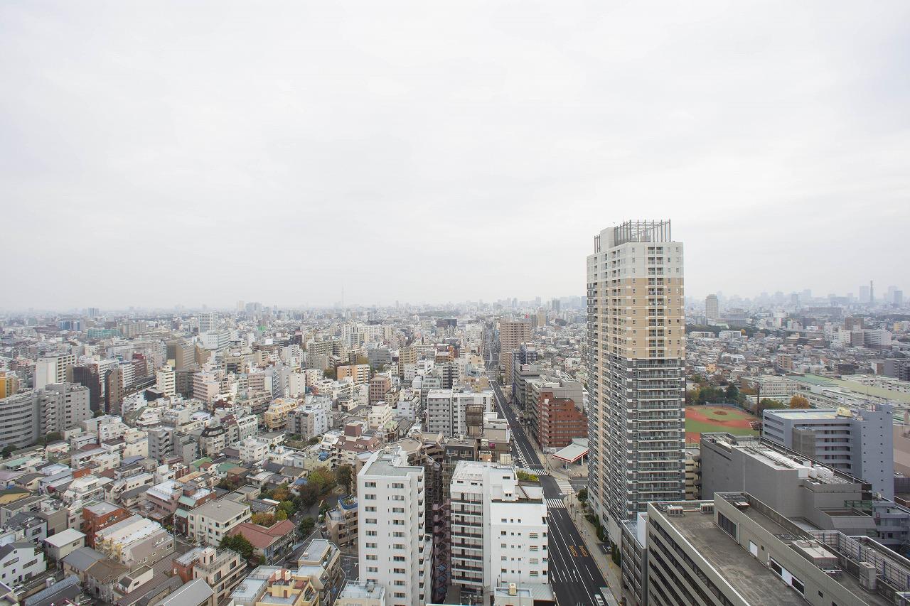 東京タワー、スカイツリーが同時に楽しめるパノラマビュー眺望