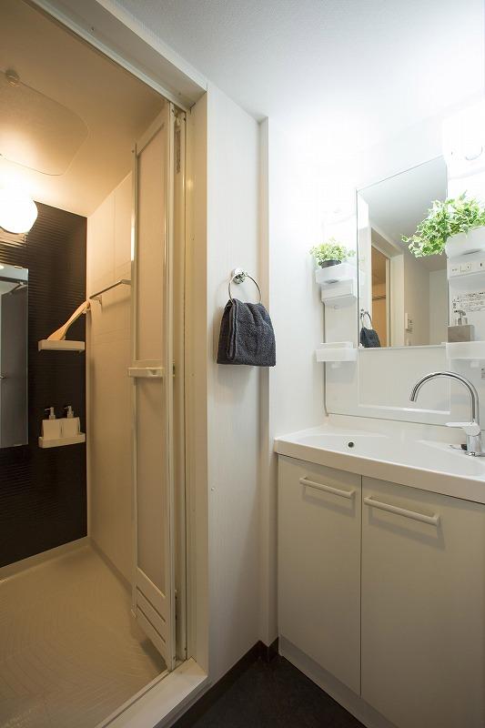 清潔感のある洗面化粧室!室内洗濯機置場も完備!(201号室)
