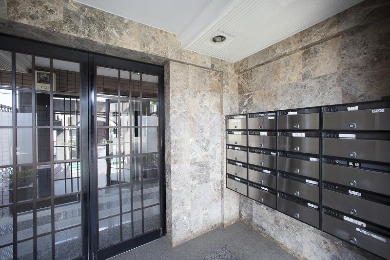 集合郵便ポスト、安心なオートロック