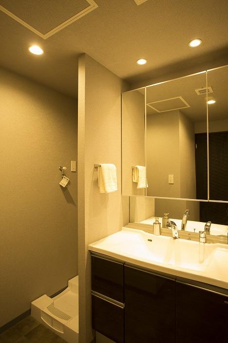 ゆとりの洗面スペース