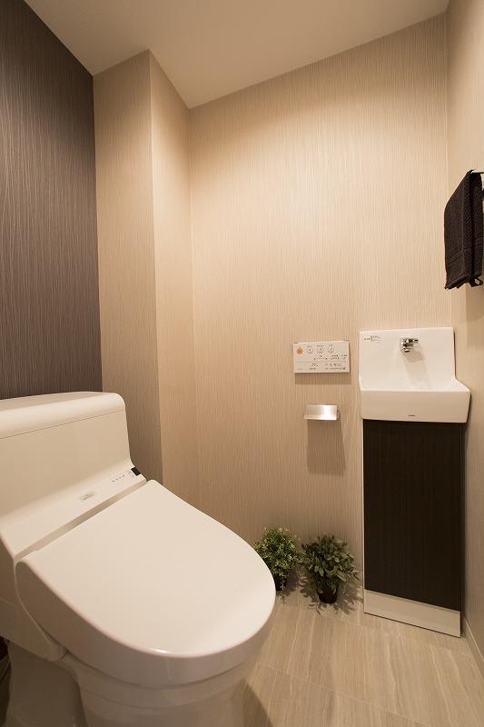 ウォシュレット付トイレ、手洗器付